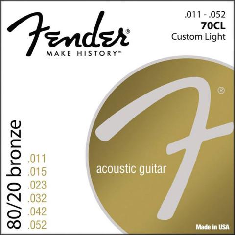 Fender 80/20 Bronze Wound akoestische snarenset custom light .011-.015-.023-.032-.042-.052