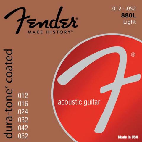 Fender Dura-Tone Coated 80/20 akoestische snarenset light .012-.016-.024-.032-.042-.052