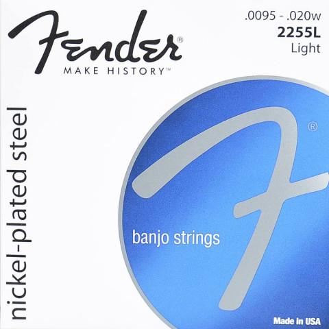 Fender snarenset tenorbanjo, nickel plated steel, light, 0095-010-013-020w-0095 loop end