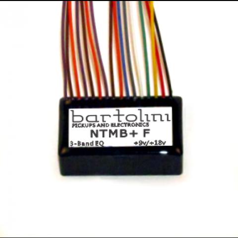 Bartolini NTMB+ GF Preamp Module 3 Band NTMB+ Fretted met Pre-wired Gain Trimmer 9 or 18V
