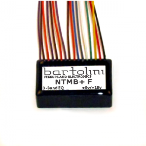 Bartolini NTMB+ GF Preamp Module 3 Band NTMB+ GFL Fretles met Pre-wired Gain Trimmer 9 or 18V