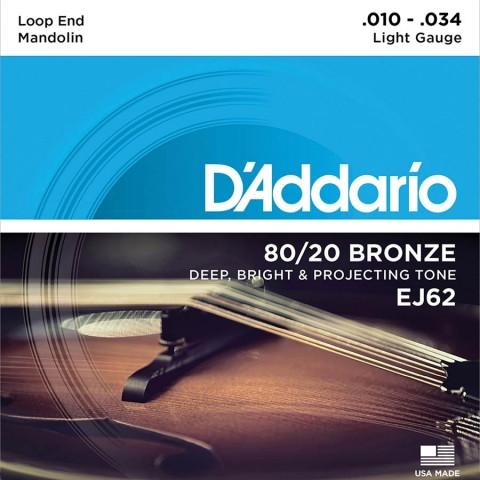DAddario snarenset mandoline 80-20 bronze light .010-.014-.024-.034