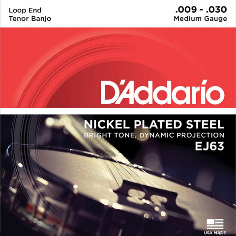 DAddario snarenset tenor banjo nickel roundwound .009-.016-.023w-.030w