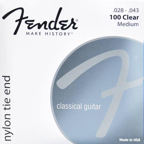 Fender klassieke snarenset clear silver .028-.029-.032-.035-.040-.043
