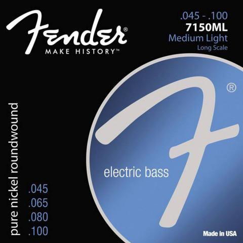 Fender Original 7150s snarenset elektrische basgitaar pure nickel roundwound medium light .045-.065-.080-.100