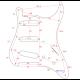 Slagplaat Stratocaster 11 schroefgaten